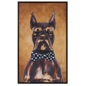 Bow Tie Boxer Original Art - Navy