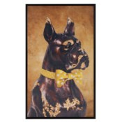 Bow Tie Boxer Original Art - Yellow