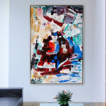 Abstract For Far Hand Painted Original Art