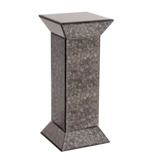 Gray Acid Treated Mirrored Pedestal