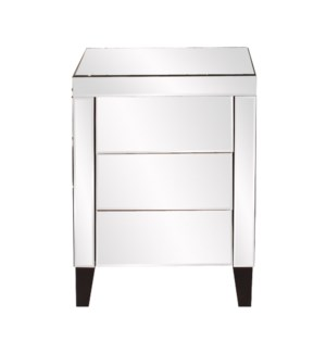 Mirrored 3 Drawer Accent Cabinet