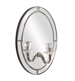 Opal Mirror w/ Candle Holder