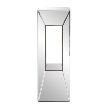 Mirrored Pedestal with Offset Opening, Large
