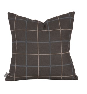 """Pillow Cover 16""""x16"""" Oxford Slate/Felt Sand (Cover Only)"""