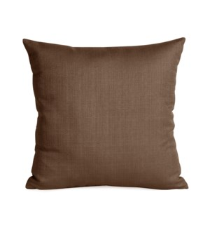 """Pillow Cover 16""""x16"""" Sterling Chocolate (Cover Only)"""