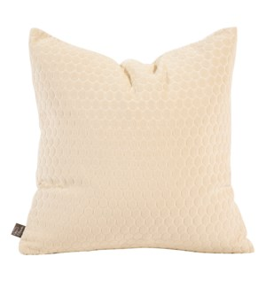 """Pillow Cover 20""""x20"""" Deco Sand (Cover Only)"""