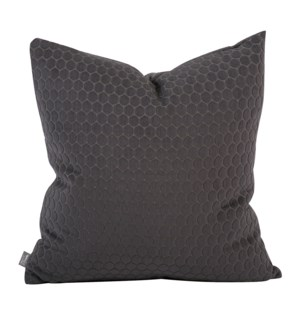 """Pillow Cover 20""""x20"""" Deco Pewter (Cover Only)"""