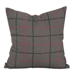 """Pillow Cover 20""""x20"""" Oxford Charcoal/Felt Charcoal (Cover Only)"""