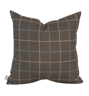 """Pillow Cover 20""""x20"""" Oxford Slate/Felt Sand (Cover Only)"""