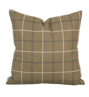 """Pillow Cover 20""""x20"""" Oxford Moss/Felt Stone (Cover Only)"""