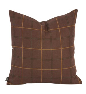 """Pillow Cover 20""""x20"""" Oxford Chocolate/Felt Chocolate (Cover Only)"""