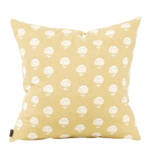 """Pillow Cover 20""""x20"""" Dandelion Citron (Cover Only)"""