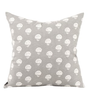 """Pillow Cover 20""""x20"""" Dandelion Pewter (Cover Only)"""