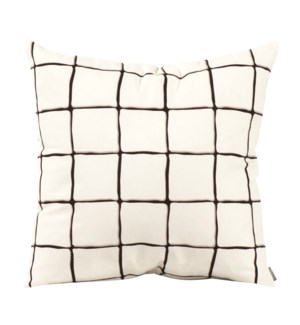 """Pillow Cover 20""""x20"""" Lattice Onyx (Cover Only)"""