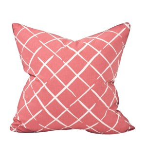 """Pillow Cover 20""""x20"""" Cove End Rhubarb (Cover Only)"""