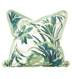 """Pillow Cover 20""""x20"""" Bermuda Bay Palm (Cover Only)"""