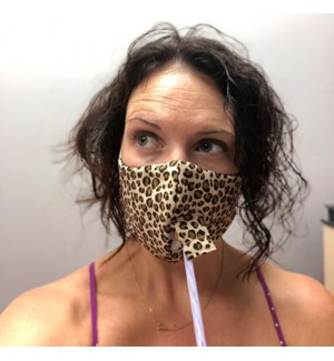 Happy Hour Reusable Face Mask in Cheetah Gold
