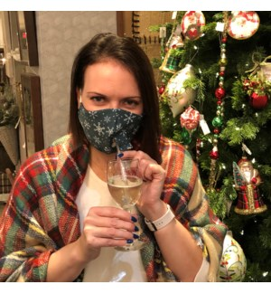 Happy Hour Reusable Face Mask Snowflakes