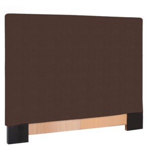 FQ Slipcovered Headboard Sterling Chocolate (Base and Cover Included)