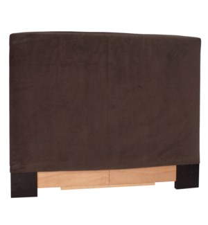 King Slipcovered Headboard Bella Chocolate (Base and Cover Included)