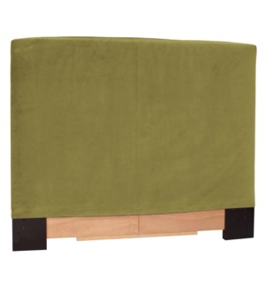 King Slipcovered Headboard Bella Moss (Base and Cover Included)