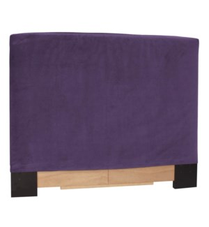 King Slipcovered Headboard Bella Eggplant (Base and Cover Included)