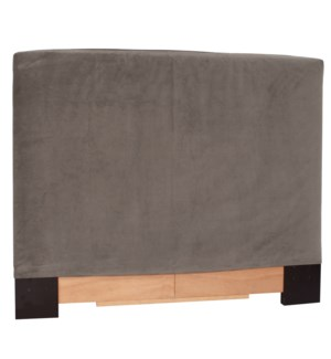 King Slipcovered Headboard Bella Pewter (Base and Cover Included)