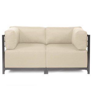 Axis 2pc Sectional Sterling Sand Titanium Frame