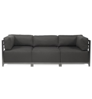 Axis 3pc Sectional Sterling Charcoal Titanium Frame