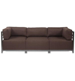 Axis 3pc Sectional Sterling Chocolate Titanium Frame
