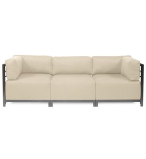 Axis 3pc Sectional Sterling Sand Titanium Frame