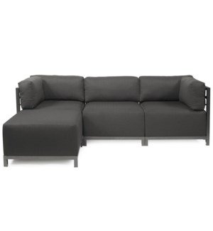 Axis 4pc Sectional Sterling Charcoal Titanium Frame