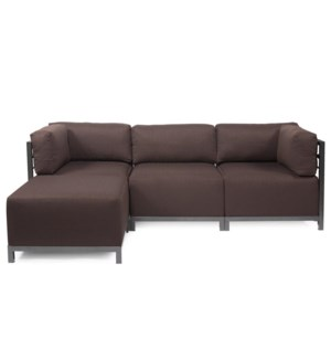 Axis 4pc Sectional Sterling Chocolate Titanium Frame