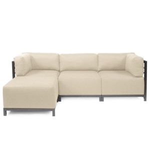 Axis 4pc Sectional Sterling Sand Titanium Frame
