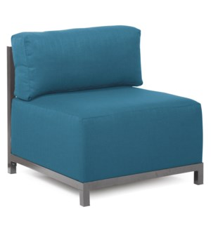 Axis Chair Seascape Turquoise Titanium Frame