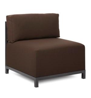 Axis Chair Seascape Chocolate Titanium Frame