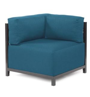 Axis Corner Chair Seascape Turquoise Titanium Frame