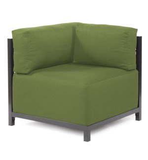 Axis Corner Chair Seascape Moss Titanium Frame