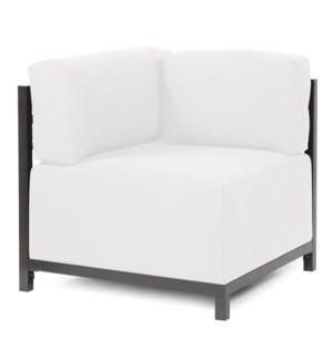 Axis Corner Chair Seascape Natural Titanium Frame