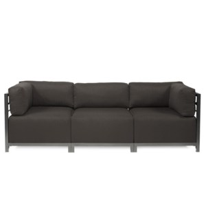 Axis 3pc Sectional Seascape Charcoal Titanium Frame