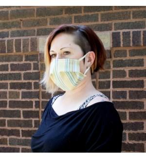 Reusable Face Mask in Summer Stripe