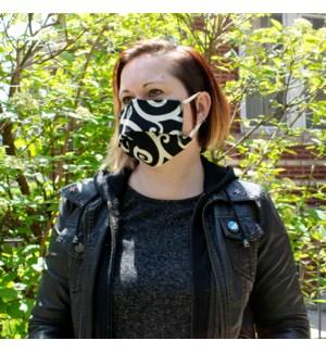 Reusable Face Mask in Cartwheel Tuxedo