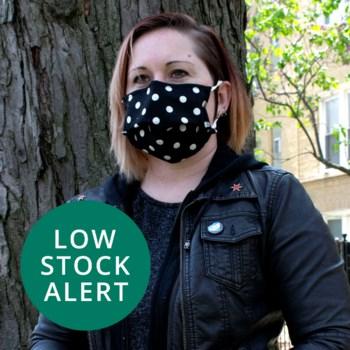 Reusable Face Mask in Polk-a-dot Jet