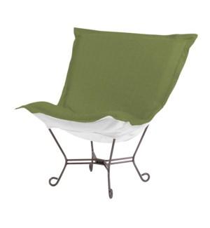 Scroll Puff Chair Seascape Moss Titanium Frame