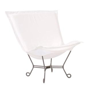 Scroll Puff Chair Seascape Natural Titanium Frame