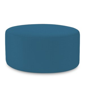 Universal Round Ottoman Cover Seascape Turquoise (Cover Only)