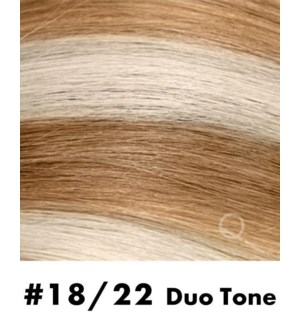"""Tape-in Hair Extensions, Color #18/22, 22"""" Long, Straight, 10pcs, Duo Tone"""
