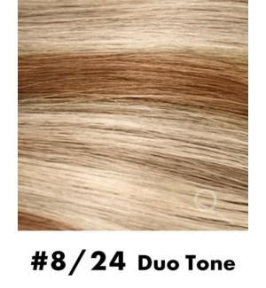 """Tape-in Hair Extensions, Color #8/24, 22"""" Long, Straight, 10pcs, Duo Tone"""