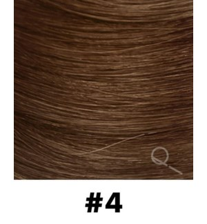 """Tape-in Hair Extensions, Color #04, 18"""" Long, Straight, 10pcs"""