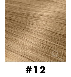 """Tape-in Hair Extensions, Color #12, 18"""" Long, Straight, 10pcs"""